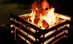 燃え上がる炎で思い出作りを≪自然の中で過ごす・貸コテージでグランピング&キャンプファイヤー/素泊り≫ @ペンション&コテージ 森の散歩