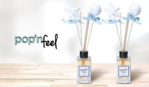 【60%OFF/2個セット/選べる4つの香り】お部屋をオシャレに演出しながら、心地よい香り漂う。ディフューザータイプのホームフレグランス《pop'n feel ホームフレグランス 100mL 2個セット》