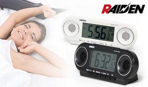 【2色展開】12パターンから選べる大音量のアラーム音が目覚めをサポート。電波修正機能付きで時刻合わせも不要。ライト、カレンダー、温度表示も搭載《セイコー 大音量目覚まし電波時計 NR531》