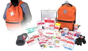 【30点セット】突然やってくる災害の恐怖に備えるため、1人に1袋準備しておきたい「防災バッグ」。災害発生後の一次避難の際に、まず最低限必要となるものをセットに《防災バッグ30》