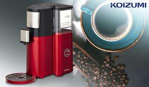 挽きたての味わいを贅沢に楽しめるミル内蔵タイプ。コーヒー本来の豊かな香り、深いコクを引き出すステンレス製メッシュフィルターを採用《全自動コーヒーメーカー KKM-1001/R》