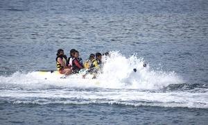夏しか出来ない海のドライブ。家族やグループで楽しめる≪1名分 / バナナボート≫予約不要 @加太海水浴場