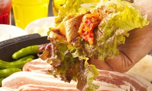 【42%OFF】ジューシー美味しい、贅沢肉祭り≪サムギョプサルなど食べ放題+飲み放題120分 / 1名分 or 2名分 or 4名分≫ @溝の口 Beer&BBQ 水口牧場
