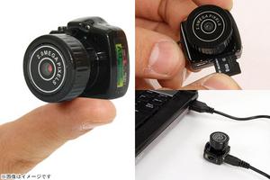 50%OFF【1,980円】≪☆送料無料☆一眼レフ型の100円サイズの小型ビデオカメラです☆超小型で約10g程しか重さがない!携帯ストラップくらい軽量です☆「一眼レフ型ミニビデオカメラ」≫