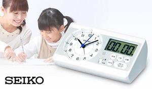 「百ます計算」の陰山英男氏監修《SEIKO セイコースタディタイム》目覚ましのほか、問題を解くスピードを計測できるストップウオッチ機能などを備え、学習時の集中力を途切れさせない工夫を盛り込んだ画期的な時計