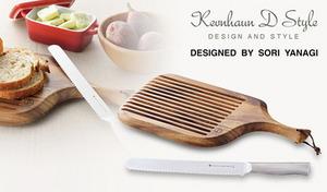 カフェスタイルのモーニングを。切れ味が長続きする特殊ステンレス鋼のブレッドナイフと、温かみある天然アカシア材のカッティングボードセット《ブレッドナイフ&カッティングボード》