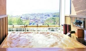 エグゼクティブルームで上質なステイを。お部屋の露天風呂から琵琶湖を一望≪ジャグジー&露天風呂付客室 / 和室+掘ごたつの間 / 1泊朝食付≫ @里湯昔話 雄山荘