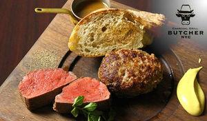 【平尾/ランチ/メインはお肉/当日予約可】福岡の熟成肉の原点とも呼ばれる名店で頂く贅沢ランチ。炭焼きにこだわりメインはハンバーグとサーロインステーキのWメインにデザートまでついた豪華内容《BUTCHER特別ランチ》
