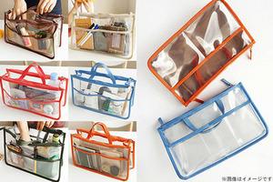 80%OFF【950円】≪☆送料無料☆旅行に便利な収納ポーチです☆身の回りの物を整理でき、クリアなので、収納した荷物もわかりやすい♪「防水バッグインバッグ2個セット」≫