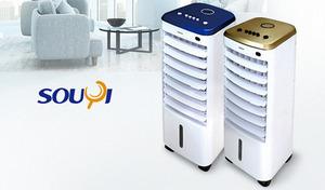 【2色展開】ひんやり冷たい涼風で暑い日もぐっと涼やかに。送風だけでも使えるほか、付属の保冷剤を入れればより冷たい風を堪能できる《冷風扇 SY-076》