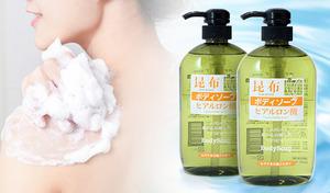 【80%OFF/600mL×2本セット】乾燥しがちな肌にうるおいを残しながら、やさしく洗い上げる《SH昆布&馬油 ボディソープ2本セット》昆布エキスと馬油のほかに、モイスチャー成分のヒアルロン酸も配合