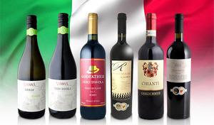 【送料込み】情熱的で個性的なイタリアワインに舌鼓。品種や銘柄の異なる味わいを楽しめる赤ワイン・白ワインのセット《イタリア産飲み比べ6本セット》