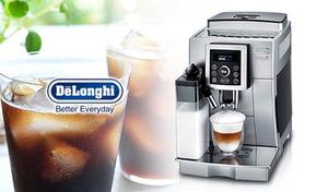 きめ細かい泡立ちのカプチーノを堪能できる1台。ワンタッチで豆から挽いた本格的なコーヒーやカフェラテが楽しめる《デロンギ マグニフィカ S カプチーノコンパクト全自動コーヒーマシン ECAM23460SN》