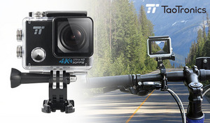 アグレッシブな動きもしっかり捉える4K 30fpsの高画質ビデオカメラ。イベントやスポーツシーンの撮影にぴったり。無線LAN対応で共有も簡単《アクションカメラ TT-VD001》
