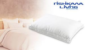 なめらかなマイクロファイバーわたがふんわりと頭を包み込み、ホテルのような寝心地を体感できる。お好みに合わせて高さ調節も可能な仕様《西川リビング ホテルテイスト やわらかリッチ枕》