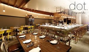 """【最大50%OFF/120分飲み放題付き】恵比寿に佇むハイセンスな """"ディナーダイニング&バー"""" センスの光る空間で非日常的なひと時を《dot. special course 全6品+食後のカフェ》"""