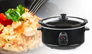 簡単な下準備と操作で、煮込み料理やリゾットなど多様な料理に活躍。見守りがいらないスローな火入れで、ながら料理もより快適に《D-STYLIST スロークッカー3.5L KK-00432》