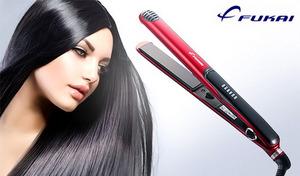 【69%OFF】髪をしっかりと挟み込みやすい、約12cmの長いプレートを採用。1台でストレートヘアだけでなくカールヘアも素早くスタイリング《ストレート&カール ヘアアイロン FHI-910》