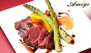 【50%OFF/1ドリンク付き】南イタリアのトラットリアを思わせる料理・空間で心温まるディナーを《牛赤身肉のタリアータや鮮魚のカルパッチョなど全9品》