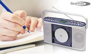 CDの再生速度が11段階で調節できるから語学学習や楽器練習にぴったり。持ち運んで使用する時にも便利な単2乾電池6個で駆動《速聴き/遅聴きCD ラジオ CDR-440SC》