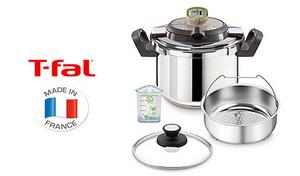 【52%OFF】「お知らせタイマー」が調理をナビするから、圧力鍋初心者に最適。圧力調理はもちろん、通常の調理や蒸し料理もこなせる1台3役の優れもの《ティファール アクティクックプラスII 6L P4290735》