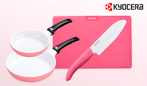 毎日のクッキングタイムを華やかに彩る。ピンク×ホワイトカラーのキュートな調理器具《セラミックキッチン(ピンク)4点セット》お手入れしやすいセラミック製