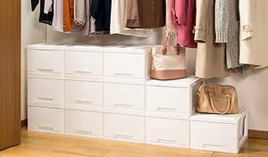 【送料込み】リビングやベッドルームで使える収納ボックス。衣類や小物などの整理整頓に大活躍《リビング収納ボックス マイライフ12個組》
