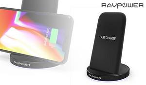 縦向き・横向きどちらでも「置くだけ」でQi対応スマートフォンを充電。最大出力10Wで急速充電にも対応《ワイヤレス充電器 Qiチャージャー RP-PC013》