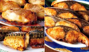 【送料込み/1切あたり約165円】温めるだけで、手軽においしい魚料理が楽しめる。厳選された魚にこだわりの味付けをほどこした便利な一品《温めるだけ 3種の焼き魚セット》
