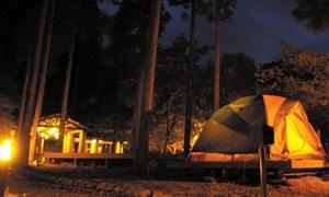 手ぶらでOK。初心者でも安心して楽しめるキャンプはここ!家族やグループの記憶に残る思い出≪2〜4名利用可/テント泊/温泉/食事無≫夏休み利用可 @牛滝温泉 いよやかの郷