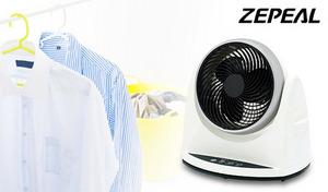 【強力送風で冷暖房効率UP】左右自動首振り機能で部屋の空気をムラなく循環。静音モード搭載で就寝時でも快適に使える《自動首振りサーキュレーター DA-A200G》