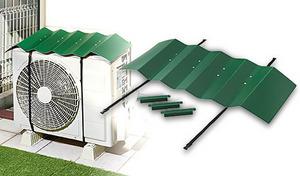 工具不要、ベルトを巻くだけの簡単取り付け。厳しい直射日光やホコリ汚れから室外機を守り、エアコンへの負担を軽減《エアコン室外機遮熱ウェーブルーフ》