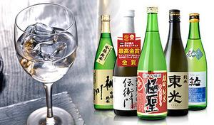 【送料込み】日本酒ならではの繊細な香りや味を優雅に飲み比べ。それぞれの蔵元が誇る深みのある味わいを心ゆくまで堪能《ワイングラスでおいしい日本酒アワード2018メイン部門金賞酒5本セット》