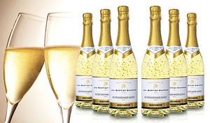 【送料込み】パーティーなどのイベントにピッタリのドイツ産スパークリングワイン。22カラットの金箔がゴージャスな雰囲気を演出《金箔スパークリングワイン6本セット》