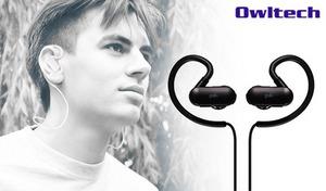 【2色展開】人間工学に基づいた設計で、装着感を高めたイヤーフック式イヤホン。高音質なサウンドが聴ける《Bluetooth4.1 IPX4準拠 高音質なaptXとAACに対応した ワイヤレスイヤホン OWL-BTEP10》