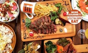 【 最大27%OFF 】柔らかくて甘みのある「国産牛ランプステーキ」がメイン ≪ 国産牛ランプステーキなど全10品コース+飲み放題120分 or 150分 ≫ @Café Orangerie