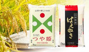 【予約販売/送料込み】山形県オリジナル品種のお米を食べ比べ《平成30年産 新米山形県産つや姫&はえぬき 各5kg計10kg》