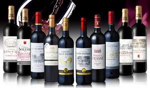 【送料込み】フランスが誇る有名醸造地・ボルドー生まれの人気銘柄を厳選。飲みごたえのある赤をたっぷり堪能《金賞受賞ワインの入った人気のスペシャル・ボルドー赤ワイン10本セット》