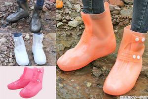 【1,150円】≪☆送料無料☆まるで折りたたみ傘のような感覚で持ち運べる新しいタイプのレインシューズ!急な雨や登山などでお使い下さい☆「靴の上から履ける丸められる長靴」≫