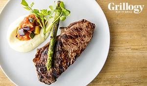 【飲み放題付きディナー】オーストラリア産ビーフサーロイン200gや的鯛のグリルなど選べるメイン。オープンキッチンにいるシェフの躍動感を感じながら、上質な食材のグリルをシェフ渾身のアレンジで《ディナーコース+飲み放題》
