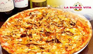 【2周年記念/食べログ3.68の有名イタリアン姉妹店】窯焼きローマピッツァに夢中。うに・ズワイ蟹・いくらをのせたイカスミパスタ、サクサク食感のクリスピーピッツァ、Wメイン盛り合わせなど《コース全7品》