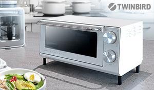 【2色展開】高さを抑えたロースタイル。外はサクッ、中はふんわりのトーストを焼き上げる。スタイリッシュな外観がキッチンをおしゃれに見せる《オーブントースター TS-5001LX》
