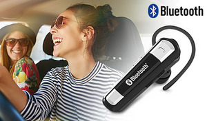 ハンズフリーで通話ができ、お気に入りのイヤホンをつなげばステレオサウンドで音楽が楽しめる《Bluetooth イヤホンマイク カナル式 マルチ BL-85》