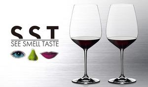 【3種展開】品種によって違うワインの美しい色調・味・香りを引き立てる、こだわり形状のワイングラス。大切な方とのディナーも気軽に楽しめる、便利な2脚セット《リーデルSST 2脚セット》