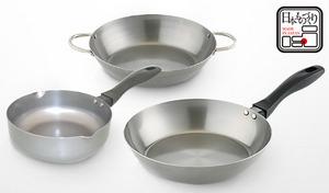 【50%OFF】「焼く・炒める・揚げる」をワンランク上の仕上がりへとサポート。使い込むほどに味を増す、鉄調理器具3点セット《鉄製調理器具3点セット》