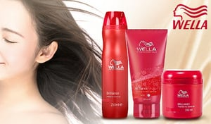 【最大69%OFF/選べる3種類/2個セット】カラーリングの色を長持ちさせながら、輝きあふれるツヤ髪へ導く。フルーツ&フローラルの甘く華やかな香り《ウエラ ブリリアンス 2個セット》