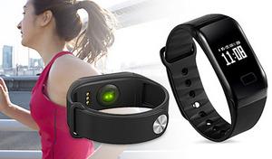 手軽に健康管理ができるタッチパネル式の腕時計。日常生活や運動時に、体の状態を数値化して表示。さまざまなシーンで使える防水仕様《スマートヘルスウォッチ》