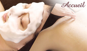 【150分/ニキビ・ニキビ跡専門/選べるメニュー】ニキビ・毛穴・乾燥などが気になる繊細な肌をオールハンドで丁寧にケア。背中かフェイシャルを選べるメニューで理想の美肌を叶える《背中ケア or フェイシャルケア》