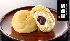 【送料込み】ふわふわのパンと交わる、上品な甘さの生クリームと小倉あん。こだわりのひんやりスイーツ《清水屋 生クリームパン 小倉 10個》
