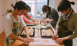 【最大50%OFF】日本ヴォーグ社「HAPPY COOKING」ディプロマ取得オーナーがレッスン≪パン作り教室/平日限定(1回・3回)、全日利用可(3回)≫ @Hama Sora Cooking